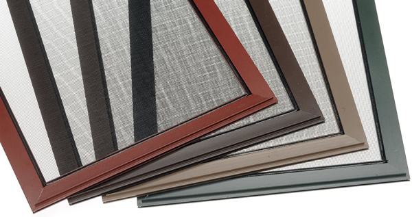 Window screen frame colors